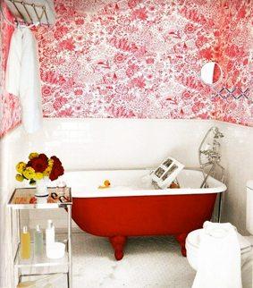Bañeras antiguas en colores llamativos para espacios modernos decorar-banos Blog Decoracion