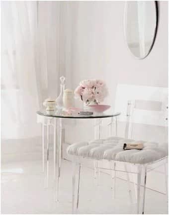 Cristal, blanco y rosa para lograr un espacio femenino decoracion-jardines, decoracion-cocinas, decorar-banos Blog Decoracion
