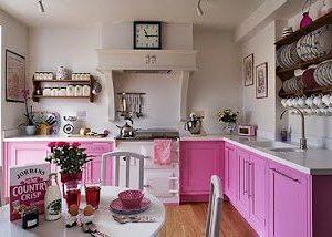 Color rosa para una vieja cocina decoracion-cocinas Blog Decoracion