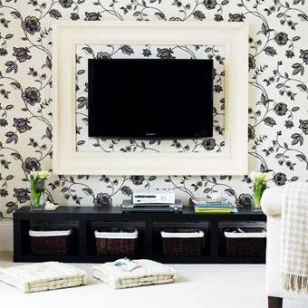 Enmarca tu televisor       ideas-para-decorar Blog Decoracion