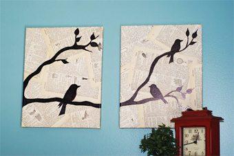 Cuadros originales hechos con hojas de libros viejos decoracion-paredes Blog Decoracion