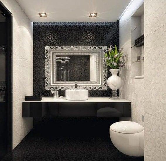 bano blanco y negro