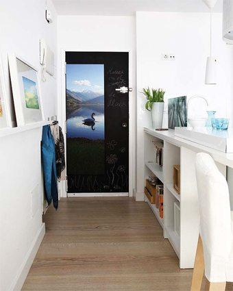 decorar la puerta de la cocina