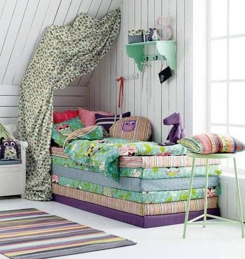 cama con colchonetas