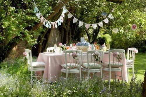 Tips para decorar una fiesta en el jardín