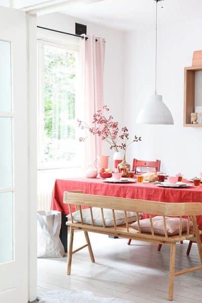 decoración rosa con madera  Blog Decoracion