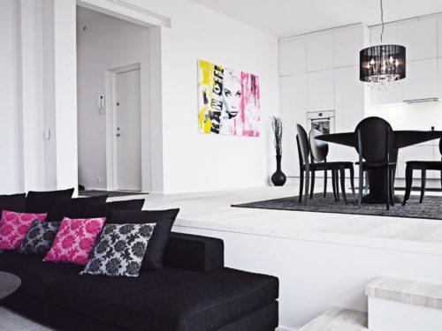 decoración blanco y negro
