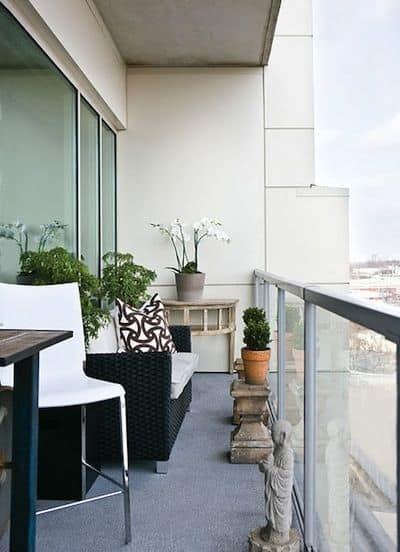 balcón moderno