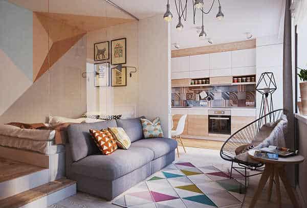 40 m2 de geometría y estilo casas Blog Decoracion
