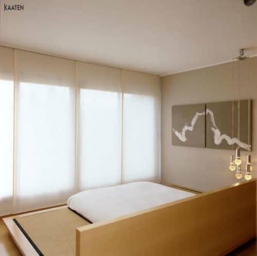paneles japoneses blancos