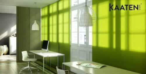 paneles japoneses verdes  Blog Decoracion