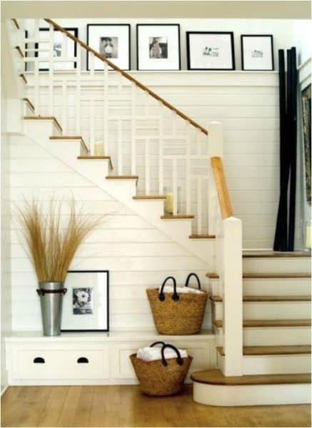 recibidor en escalera