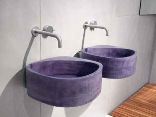 lavabos cemento teñido