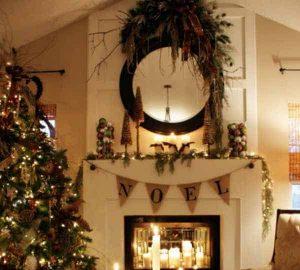 chimenea navideña