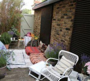 patio de estilo bohemio