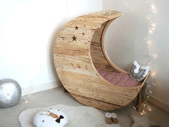 Cama infantil con forma de luna ideas-para-decorar Blog Decoracion