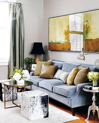 cuadro único decorar pared sofa
