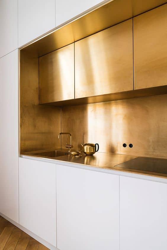 Cocinas doradas, la última tendencia decoracion-cocinas Blog Decoracion