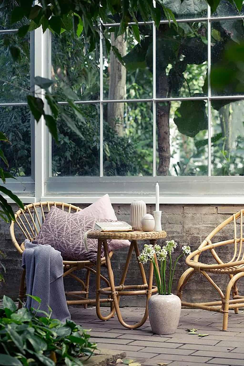 Muebles de mimbre para decorar tu terraza decoracion-jardines Blog Decoracion