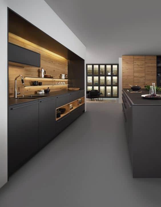 Micro tendencia que adoramos: cocinas negras