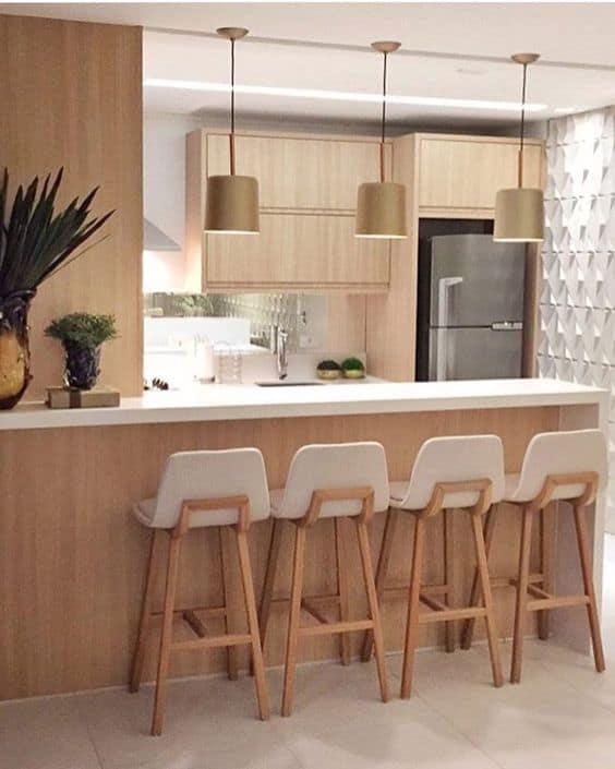 Ideas e inspiración para decorar con una barra en la cocina