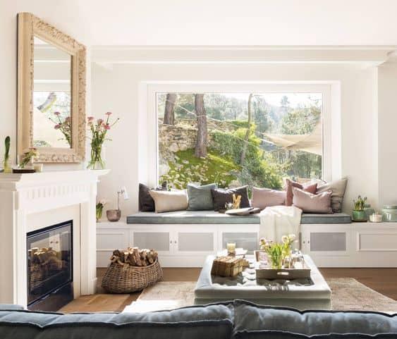 Espacios con encanto: bancos debajo de la ventana ideas-para-decorar Blog Decoracion