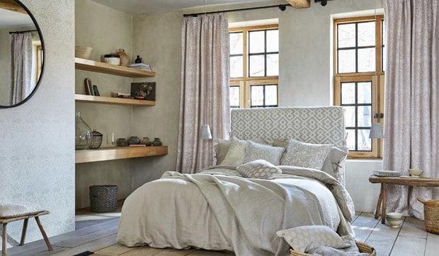 Decorar una habitación; llénala de personalidad utilizando los textiles