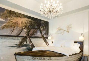 cama hecha con una barca
