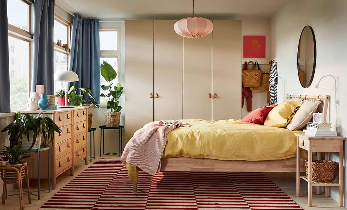 Cómo combinar los textiles del dormitorio